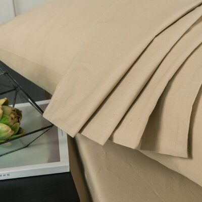 Volker Super Soft 100% Cotton Fitted Sheet Set Size: Twin