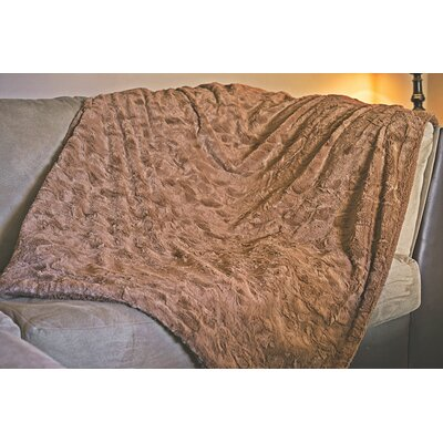 Jarvis Luxury Fur Throw Blanket Size: 63 X 87
