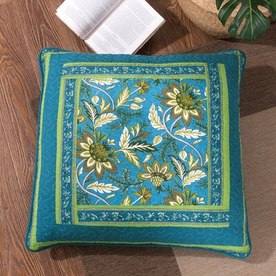 Andruska Greek Mediterranean Fountain Bohemian Cotton Euro Pillow