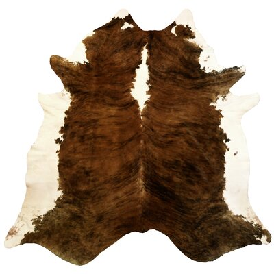 Extra Large Brindle Brazilian Cowhide Brown & White Area Rug