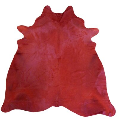 Extra Large Dyed Brazilian Cowhide Rich Red Area Rug