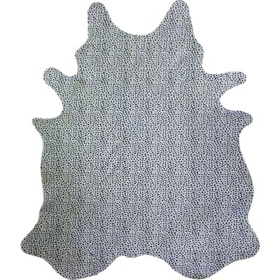 Stenciled Brazilian Cowhide Cheetah Black/White Area Rug