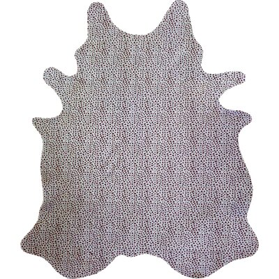 Stenciled Brazilian Cowhide Cheetah Brown/White Area Rug