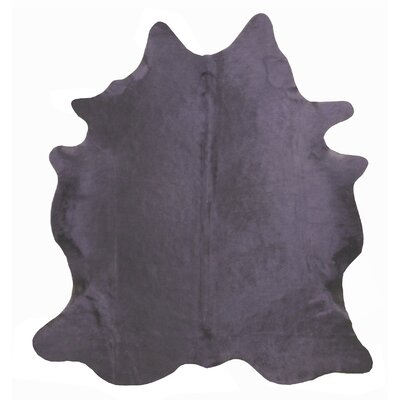 Large Dyed Brazilian Cowhide Charcoal Area Rug