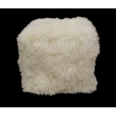Tibetan Lamb Pouf Color: Natural