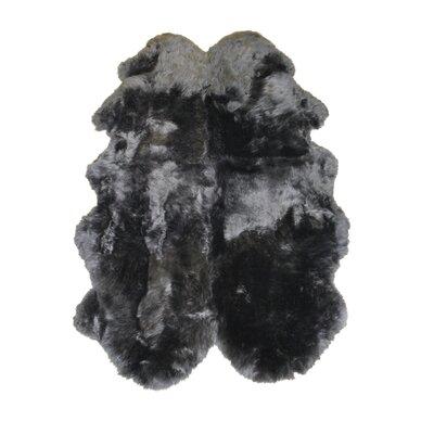Sheepskin Charcoal Rug Rug Size: 4 x 6