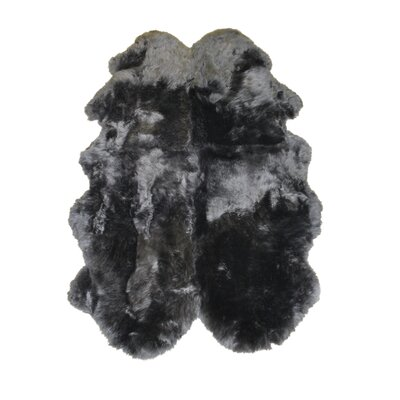 Sheepskin Charcoal Rug Rug Size: 4