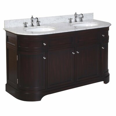 Montage 60 Double Bathroom Vanity Set Base Finish: Chocolate