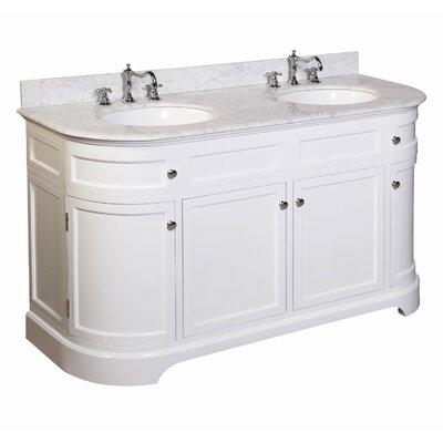Montage 60 Double Bathroom Vanity Set Base Finish: White