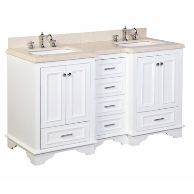 Nantucket 60 Double Bathroom Vanity Set