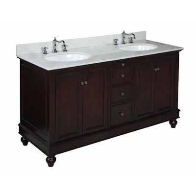 Bella 60 Double Bathroom Vanity Set Base Finish: Chocolate
