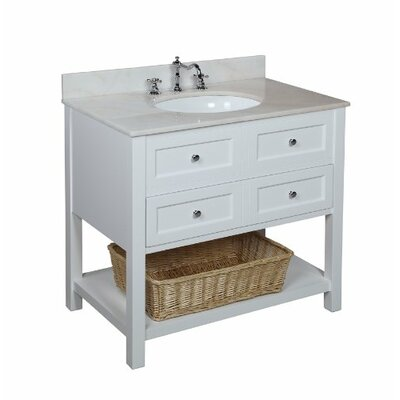 New Yorker 36 Single Bathroom Vanity Set Base Finish: White