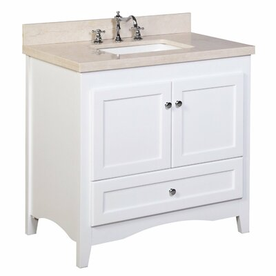Abbey 36 Single Bathroom Vanity Set Top Finish: Crema Marfil
