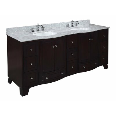 Palazzo 72 Double Bathroom Vanity Set Size: 72, Base Finish: Espresso