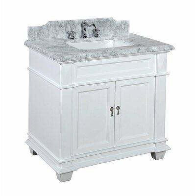 Elizabeth 36 Single Bathroom Vanity Set Base Finish: White, Size: 36