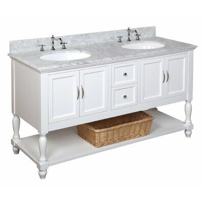 Beverly 60 Double Bathroom Vanity Set Size: 60, Base Finish: White