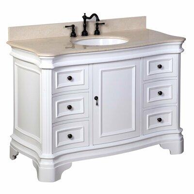 Katherine 48 Single Bathroom Vanity Set Base Finish: White