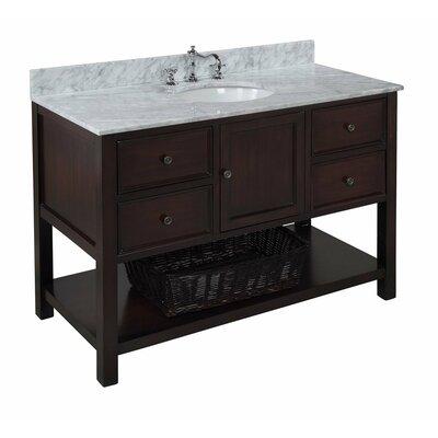 New Yorker 48 Single Bathroom Vanity Set Base Finish: Chocolate