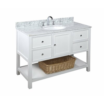 New Yorker 48 Single Bathroom Vanity Set Base Finish: White