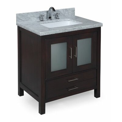 Manhattan 30 Single Bathroom Vanity Set Base Finish: Chocolate