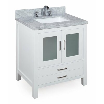 Manhattan 30 Single Bathroom Vanity Set Base Finish: White