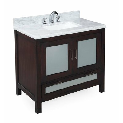 Manhattan 36 Single Bathroom Vanity Set Base Finish: Chocolate