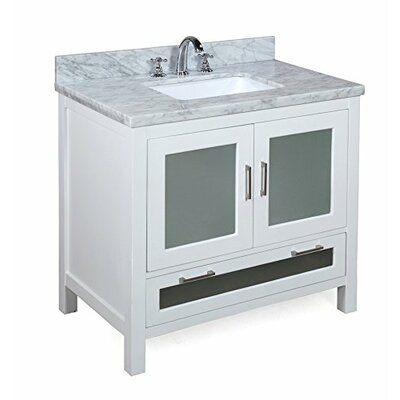 Manhattan 36 Single Bathroom Vanity Set Base Finish: White