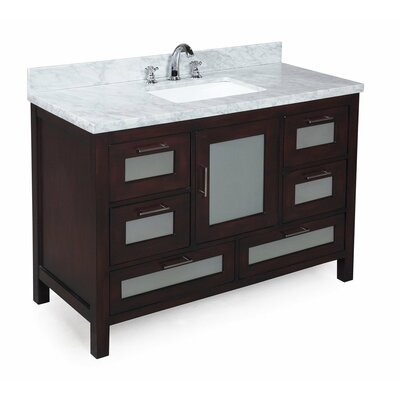 Manhattan 48 Single Bathroom Vanity Set Base Finish: Chocolate