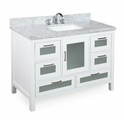 Manhattan 48 Single Bathroom Vanity Set Base Finish: White