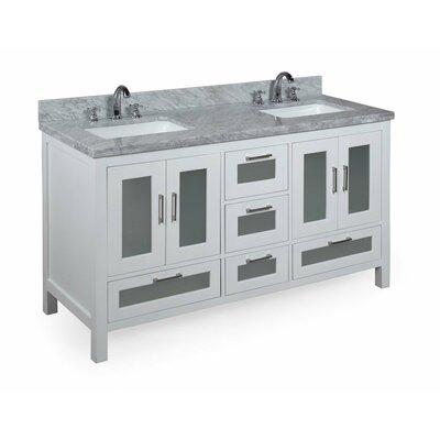 Manhattan 60 Double Bathroom Vanity Set Base Finish: White