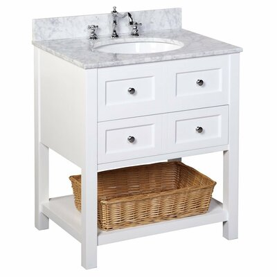 New Yorker 30 Single Bathroom Vanity Set Size: 30, Base Finish: White