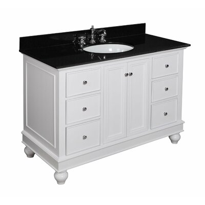Bella 48 Single Bathroom Vanity Set Base Finish: White