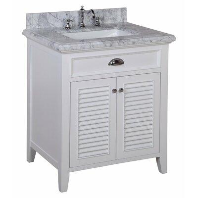 Savannah 30 Single Bathroom Vanity Set Base Finish: White