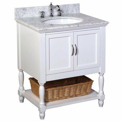 Beverly 30 Single Bathroom Vanity Set Base Finish: White