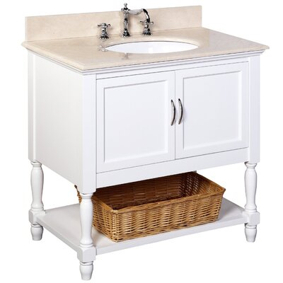 Beverly 36 Single Bathroom Vanity Set Base Finish: White