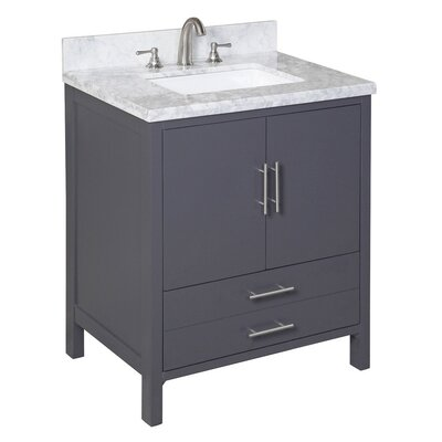 California 30 Single Bathroom Vanity Set Base Finish: Charcoal Gray