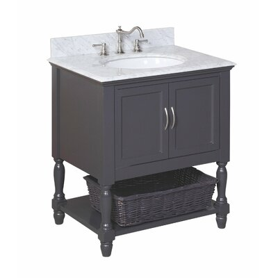 Beverly 30 Single Bathroom Vanity Set Base Finish: Charcoal Gray, Top Finish: Quartz