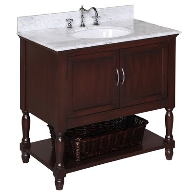 Beverly 36 Single Bathroom Vanity Set Size: 36, Base Finish: Chocolate