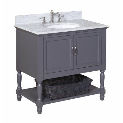 Beverly 36 Single Bathroom Vanity Set Base Finish: Charcoal Gray