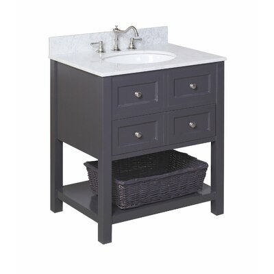 New Yorker 30 Single Bathroom Vanity Set Size: 30, Base Finish: Charcoal Gray
