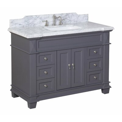 Elizabeth 48 Single Bathroom Vanity Set Top Finish: Carrara Marble