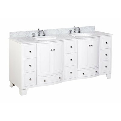 Palazzo 72 Double Bathroom Vanity Set Size: 72, Base Finish: White