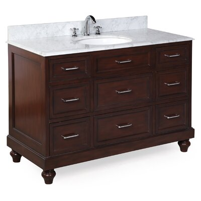 Amelia 48 Single Bathroom Vanity Set Base Finish: Chocolate