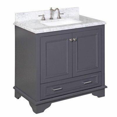 Nantucket 36 Single Bathroom Vanity Set Base Finish: Charcoal Gray