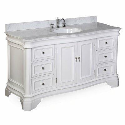 Katherine 60 Single Bathroom Vanity Set Base Finish: White