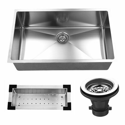 32 x 19 Undermount Stainless Steel Single Bowl Kitchen Sink