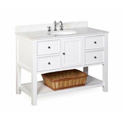 New Yorker 48 Single Bathroom Vanity Set Top Finish: Marble