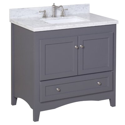 Abbey 36 Single Bathroom Vanity Set Size: 36, Base Finish: Charcoal Gray