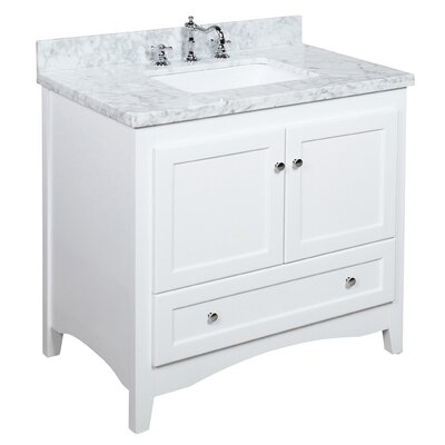 Abbey 36 Single Bathroom Vanity Set Size: 36, Base Finish: White