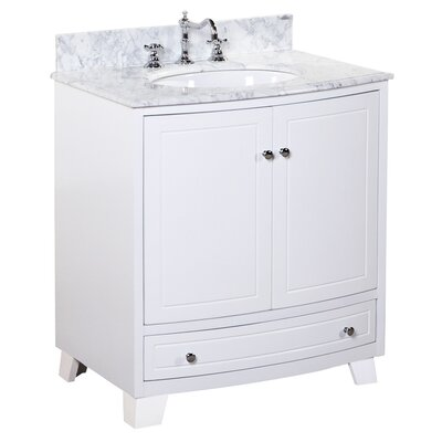 Palazzo 30 Single Bathroom Vanity Set Base Finish: White
